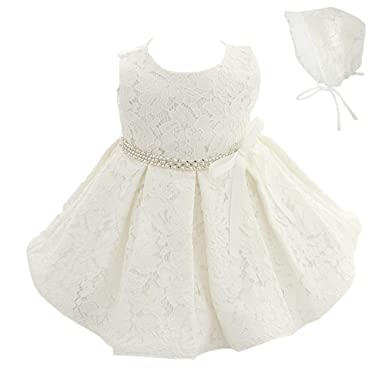 3e11fd379 Amazon.com  Meiqiduo Baby Girls 3Pcs Set Christening Baptism Wedding ...