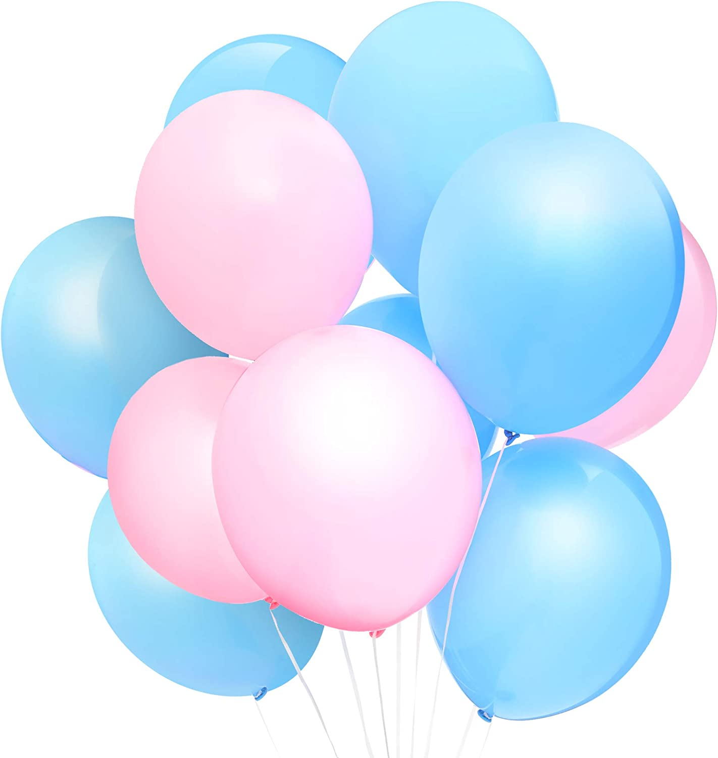 Blue Panda Gender Reveal Party Balloons (100 Count), Pink and Blue