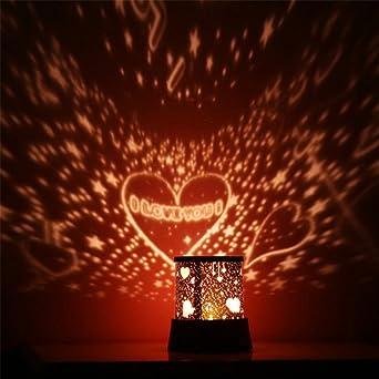 Sunnymi Lámpara de noche de proyección de constelaciones moradas ...
