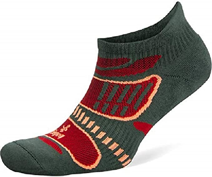Black Balega Hidden Dry 2 Second Skin No Show Running Socks