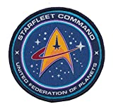 united federation planets - Patch Squad Men's Tactical Star Trek TNG STARFLEET COMMAND United Federation of Planets (Blue Woven)