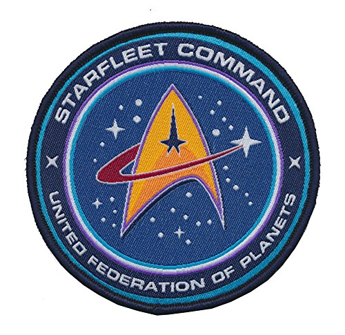 Small Woven Patch (Patch Squad Men's Tactical Star Trek TNG STARFLEET COMMAND United Federation of Planets (Blue Woven))