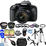 Canon EOS 800D/T7i 24.2MP Digital SLR Camera with EF-S 18-55mm Lens [International Version] (Mega Bundle)