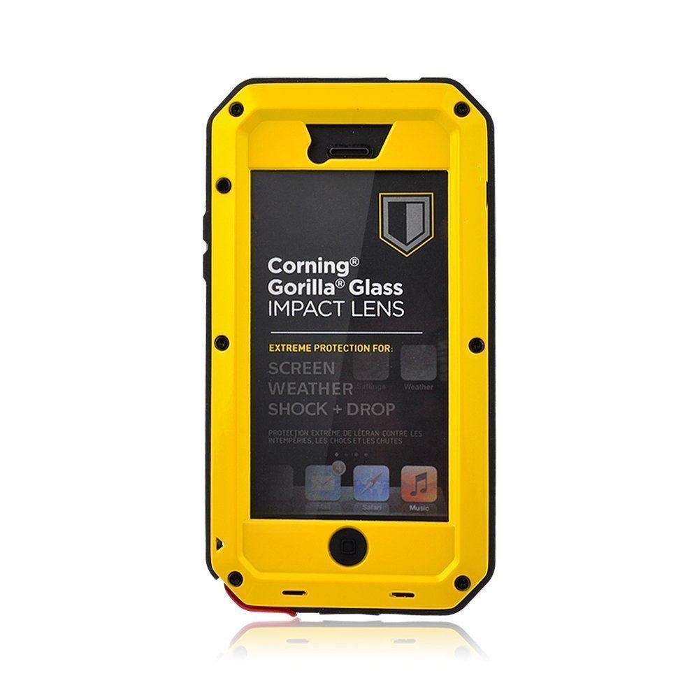 the best attitude babbd 8955c iPhone 5S Case,Mangix Gorilla Glass Luxury Aluminum Alloy Protective Metal  Extreme Shockproof Military Bumper Heavy Duty Cover Shell Case Skin ...