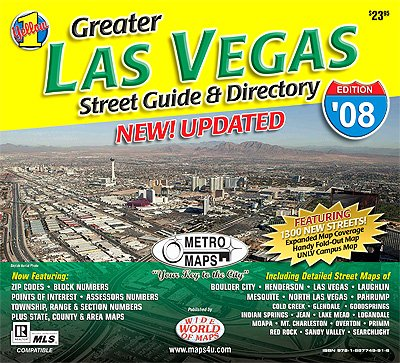 Greater Las Vegas Street Guide & Directory (Yellow 1 Series of Maps and Atlases) (Map Nevada Laughlin)