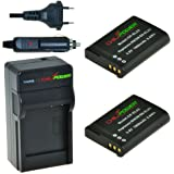ChiliPower Nikon EN-EL23, ENEL23 Kit: 2x Batteria (1800mAh) + Caricabatteria per Nikon Coolpix P600