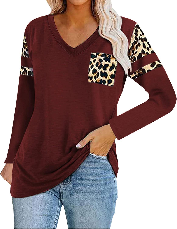 YANFANG Mariposa Diente De LeóN Moda para Mujer Casual con Cuello En V Manga Larga Camiseta Estampada Informal Top,Tops Verano Tallas Grandes Blusas Florales Casuales Camisas