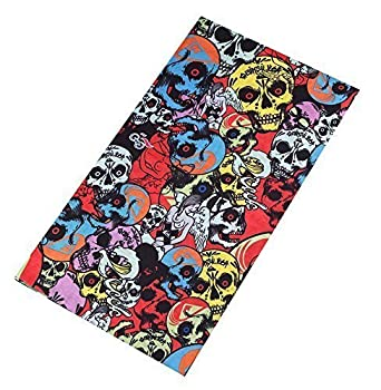 Kopftuch Schlauchtuch Skituch Bandana als Motorradtuch Snowboardtuch und Fashion Multischal Wahlfeld Multifunktionstuch aus Mikrofaser Schlauchschal Halstuch