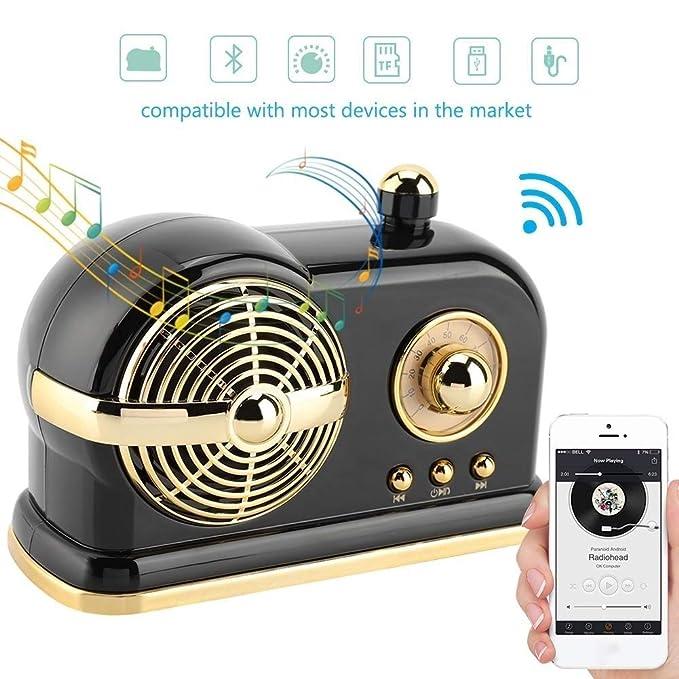 XiaoZou Altavoz Bluetooth portátil, 10W de Potencia, Altavoz ...