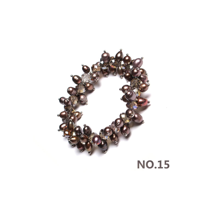 SHINe-Island Pearls Amethyst Women Bracelet Handmade Gift Original Colorful Gemstone Freshwater Pearl Bracelet