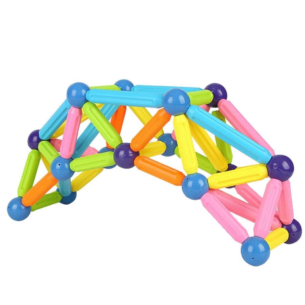 D Little Toys Magnetische Stange Kinder pädagogische Spielwaren Gehirn Bausteine Jungen und Mädchen Baby Intelligenz Entwicklung Magnet Montage Spielzeug (größe   D)