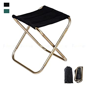 Phenomenal Folding Chair Fome Sports Outdoors 420D Nylon 7075 Aluminum Alloy Camping Chair Portable Folding Stool Camping Stool Fish Chair With Pouch 9 4X5 5In Gmtry Best Dining Table And Chair Ideas Images Gmtryco