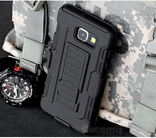 Galaxy A3 2017 Case, Cocomii Robot Armor NEW [Heavy Duty] Premium Belt Clip Holster Kickstand Shockproof Hard Bumper Shell [Military Defender] Full Body Dual Layer Rugged Cover Samsung (Black) Photo #10