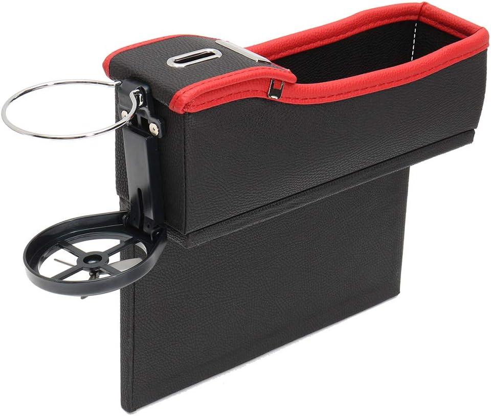 Autos YSHtanj Auto-Aufbewahrungsbox f/ür Becherhalter Aufbewahrungsbox Kaffeebraun Schwarz Kunstleder M/ünzsammler und Becherhalter L/ückenf/üller