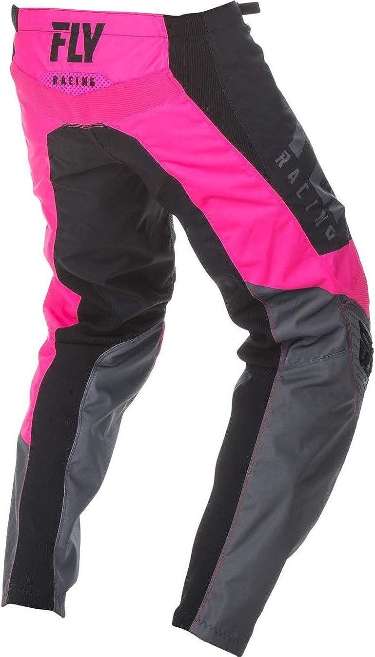 Fly 372-93826 Racing 2019 F-16 nero rosa 26 Neon Pantaloni da motocross per ragazzi grigio