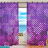 Cheap INGBAGS Bedroom Decor Living Room Decorations Hologram Pattern Print Tulle Polyester Door Window Gauze / Sheer Curtain Drape Two Panels Set 55×78 inch ,Set of 2