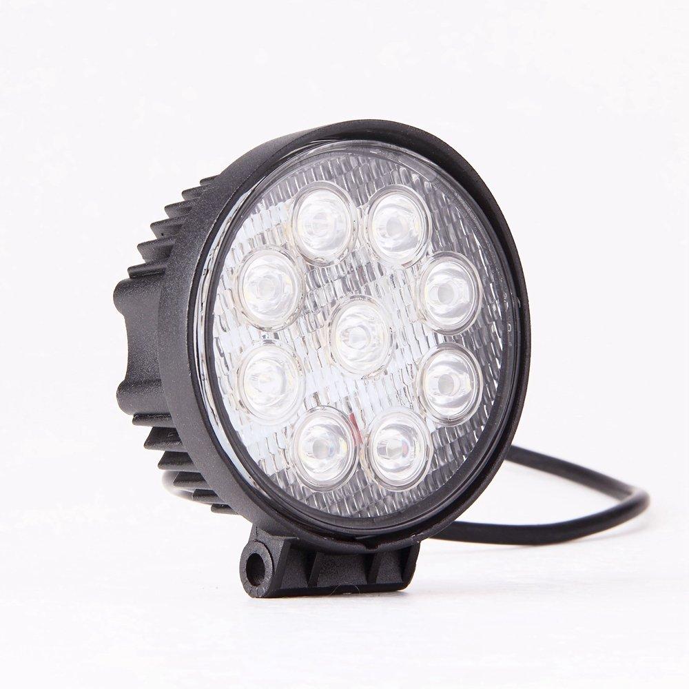 GZYF 8PCS 27W LED Work Light Lamp Bar Round Flood Beam Offroad For Truck Car Boat SUV 4WD UTE ATV 4X4 12V 24V by GZYF (Image #3)