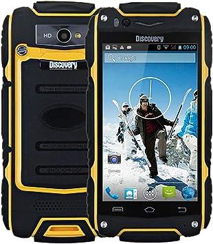 4.0 Pulgadas Discovery V8 Android 4.4 3G Smartphone MTK6572 1.0GHz Dual Core WiFi GPS Impermeable a Prueba de Polvo a Prueba de Golpes ROM de 4GB (Yellow): Amazon.es: Electrónica