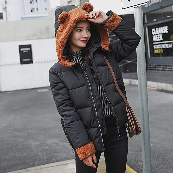 Amazon.com: AOJIAN Women Jacket Long Sleeve Outwear Cute Bear Ear Hooded Zipper Pocket Overcoat Coat: Clothing