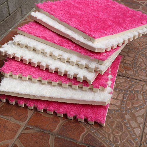 Carpet Interlocking Floor Tiles - Plush Carpet Area Rug - Puzzle Floor Mat - Interlocking Carpet Tiles, Thick, Non Toxic, Anti-Fatigue, Fluffy,Premium Foam Mat by Meng Ge (Image #2)
