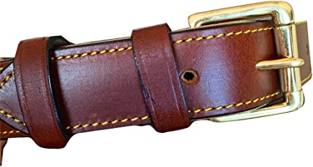 Chestnut Available in S  M  L Brown Leather Dog Collar Slight Second