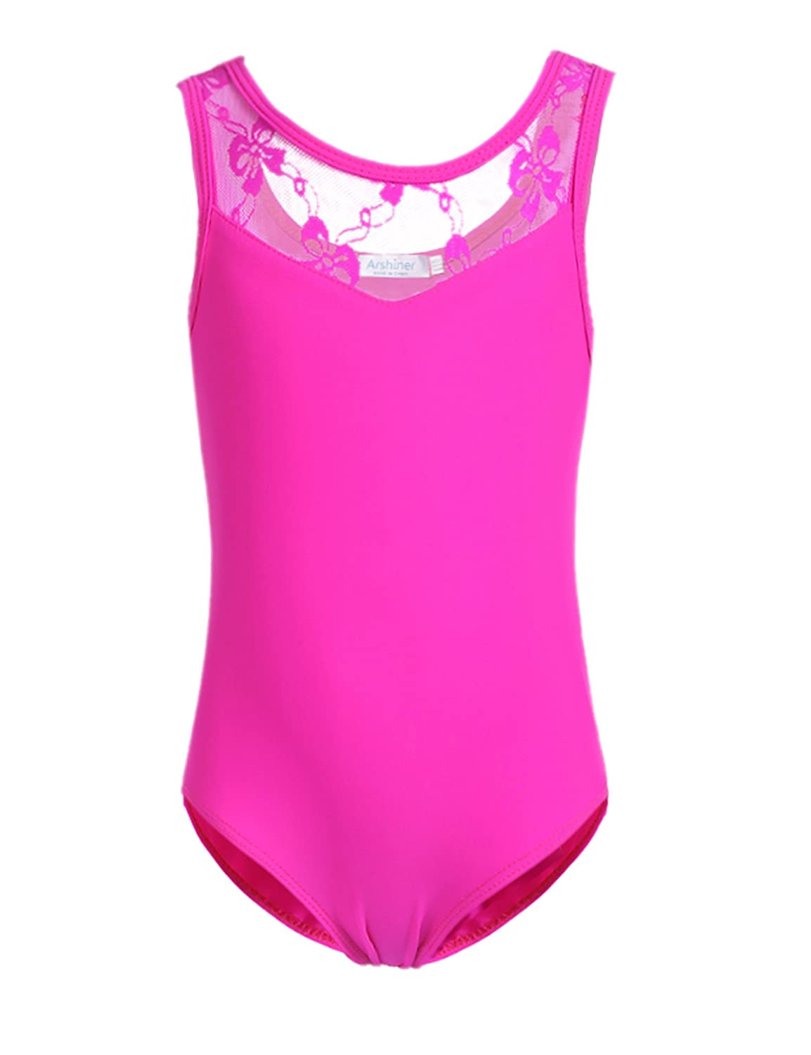 Arshiner Girls' Tank Leotard with Lace Ballet Dance ASS005242