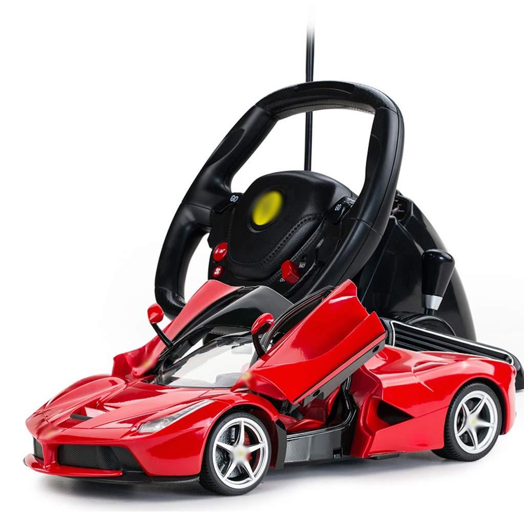 Auto Fernbedienung Auto Kinder Spielzeug Sport Auto Lenkrad Racing Kunststoff (Farbe : ROT)