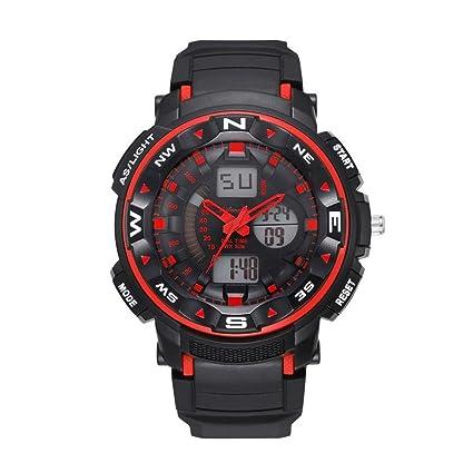 jintime Deportes Reloj Correas Hombre/Mujer Digital Cuarzo Deporte Relojes de Montaña Impermeable Electrónico Relojes