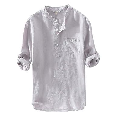 zencardery Camisas Hombre Verano Camisa Casual Camisetas De Manga ...