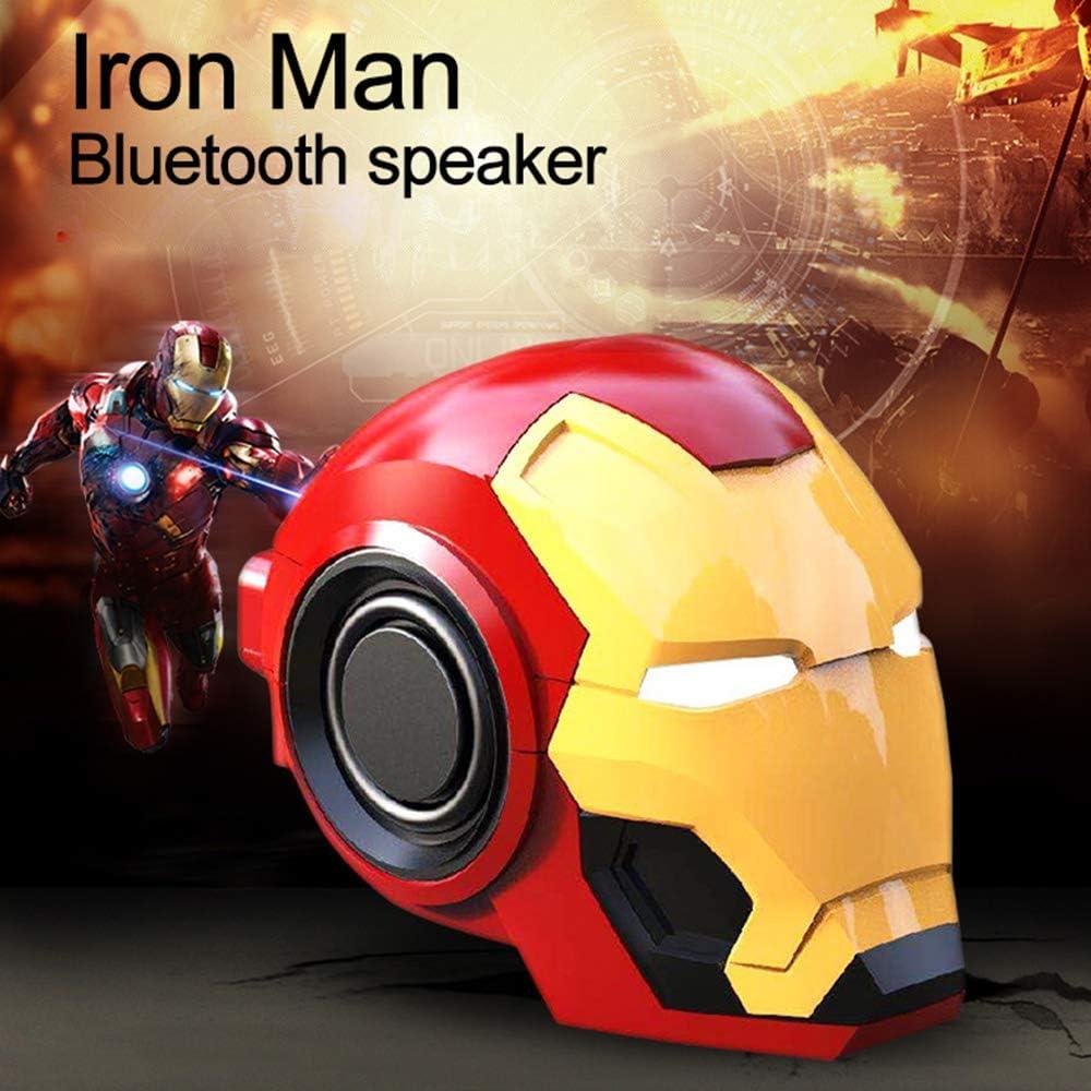 Altavoz Bluetooth, Iron Man Altavoz portátil inalámbrico de Viaje Bluetooth Boombox MP3 Music Mini Radio (Oro)