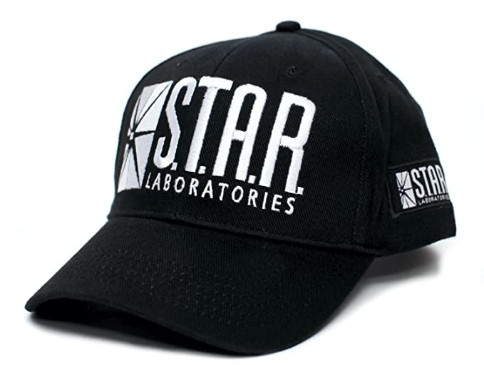 best cheap 8cb41 2329d Star Labs Laboratories Embroidered Hat Cap S.T.A.R. Unisex Adult Comic Black