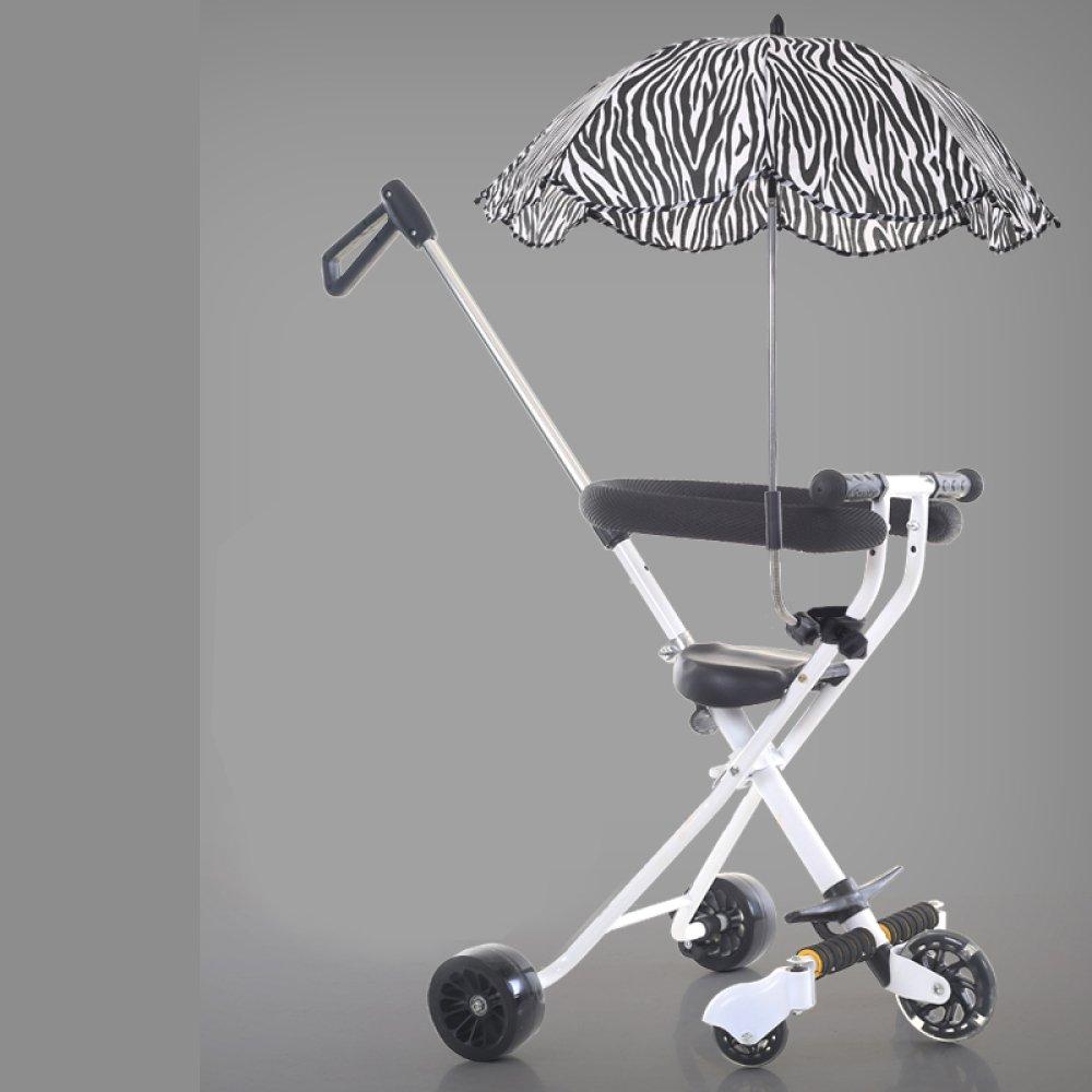 Das Dreirad Der Kinder - Portable-im Freienreise-Faltende Laufkatze Für Die Kinder 2-5 Jahre Alt,D BC