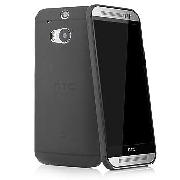 Quadocta HTC One M8 Funda Ultra Slim Case (Negro) Bumper Carcasa Cover Transparente Cover