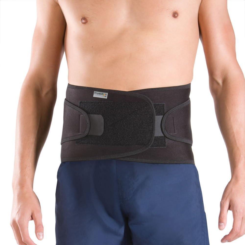 PhysioRoom Elite Soporte para la espalda - alivio del dolor, apoyo, cómodo, compresión, ajustable, retención de calor, neopreno, facilidad espasmos musculares, columna vertebral, neopreno, algodón, ny
