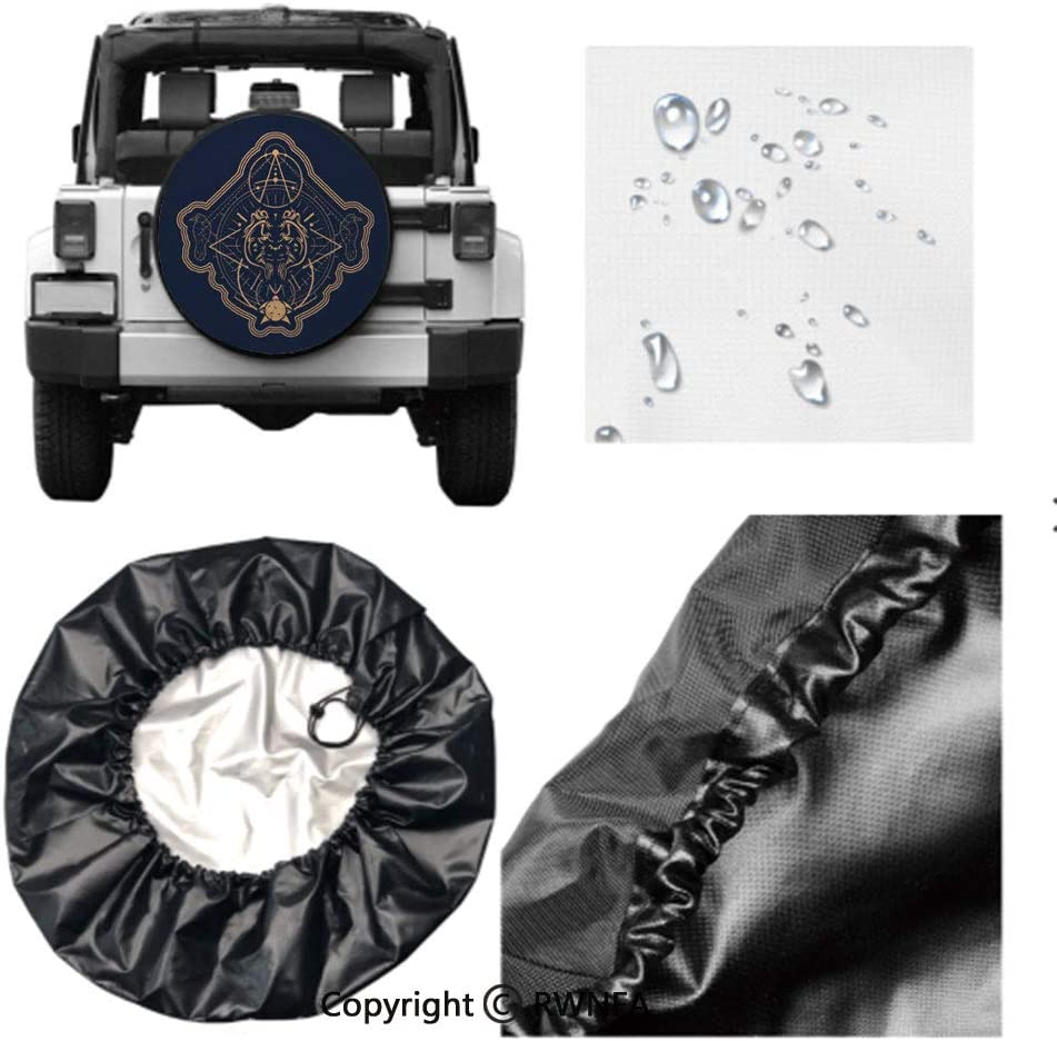 RV Spare Tire Cover,Gift Wrap Spider,for Jeep,Trailer SUV and Many Vehicle 14 15 16 17