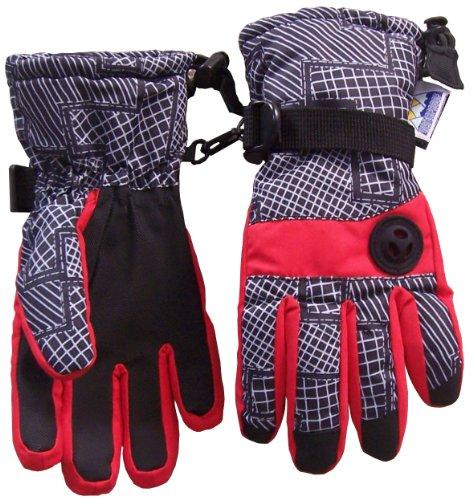 nice-caps-kids-thinsulate-and-waterproof-geo-lines-print-ski-gloves-4-5yrs-red-grey