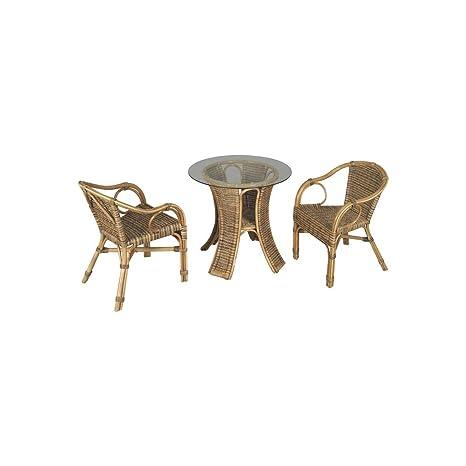 Muebles de jardín, Incluye 1 Mesa Redonda de Cristal, 2 ...