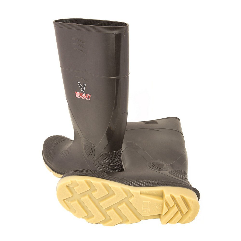 Tingley Rubber 51144 15-Inch Cleated Knee Boot, Size 10, Brown