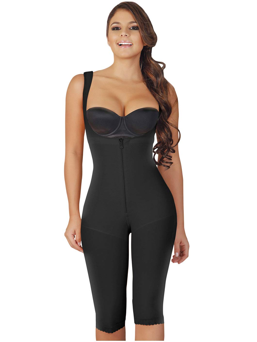 ad8ffd46e Galleon - Salome 0520 Women Post Surgery Full Body Shaper With Zipper Shapewear  Fajas Colombianas Reductoras Moldeadoras Completas Post-operatorias Black S