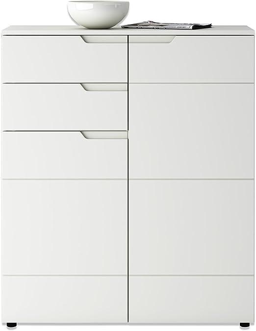 Roller Kommode Weiss Hochglanz 100x120 Cm Amazon De Kuche Haushalt
