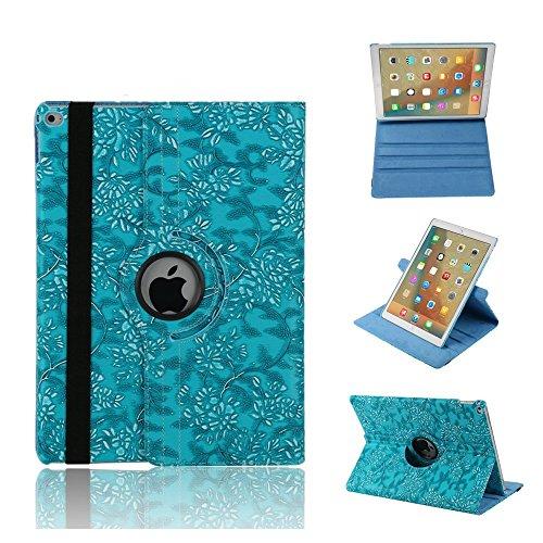 Price comparison product image FuriGer iPad Mini Case, Mini 2 & 3 Case Cover, 360 Degree Rotating PU Leather Stand Protective Cover with Auto Sleep Wake for Apple iPad Mini 3/2/1 -Blue