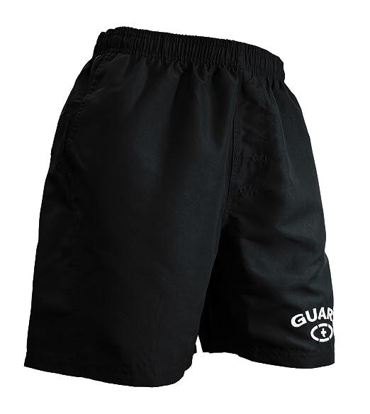 "91f6e882c6 Adoretex Men's Guard 18"" Swim Board Shorts Swim Trunks Mesh Liner -  MG002 - Black"
