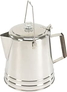 Stansport Stainless Steel Percolater 28-Cup Coffee Pot, One Size