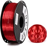 Noulei Shiny PLA 3D Printing Filament for 3D Printer, 1kg/2.2lbs Spool 1.75mm, Silk Red