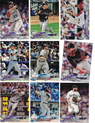 (Colorado Rockies/Complete 2018 Topps Series 1 & 2 Baseball 28 Card Team Set! PLUS 2017 Topps Series 1 & 2 Rockies Team Set!)