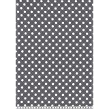 JERSEY FABRIC - Spots Grey - Jersey Knit - SWAJ14 - By Half Metre - 95% Cotton 5% Elastane - By Swafing by Swafing