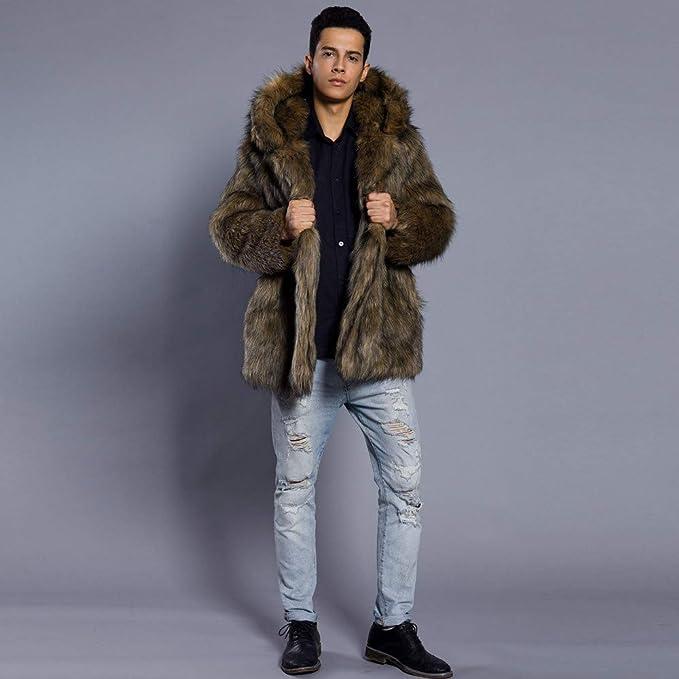 Amazon.com: YOcheerful Mens Overcoat Parka Outwear Cardigan Winter Warm Coat Jacket Fleece Leopard Track Jacket Blouse (C-Khaki,2XL): Clothing