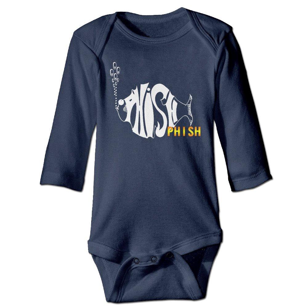 de0d2984e6e9 Amazon.com  Baby Onesie Long Sleeve Phish Fish Band  Clothing