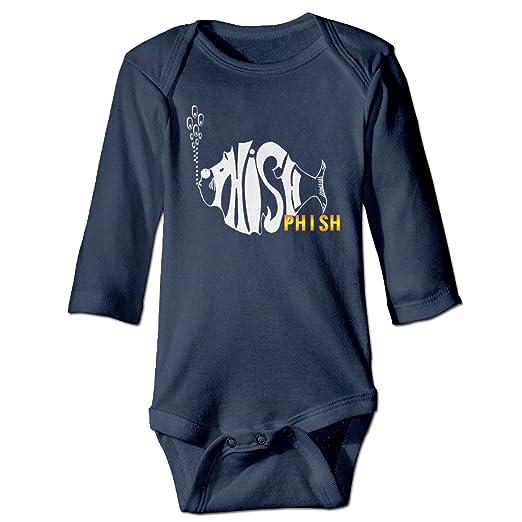9912d4be1 Amazon.com: Baby Onesie Long Sleeve Phish Fish Band: Clothing