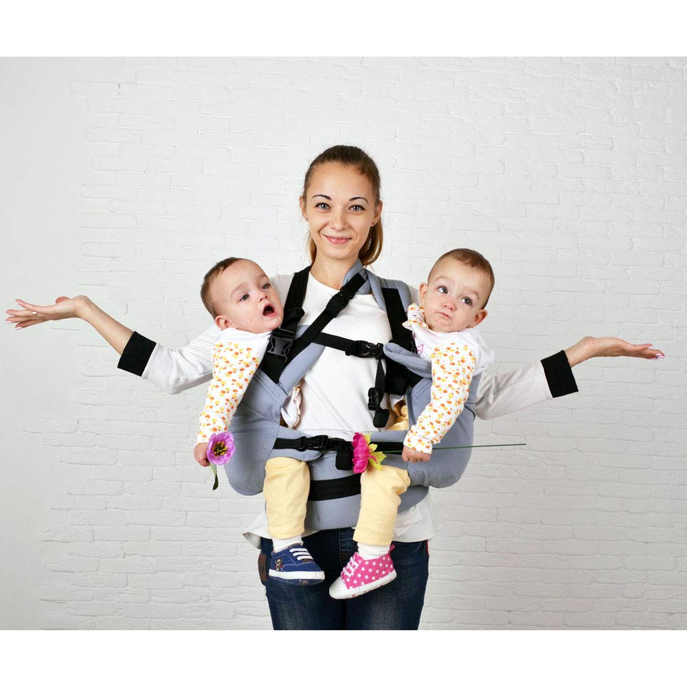 Malishastik Twin Baby Carrier, Twins Carrier Tandem, Twin Carrier, Baby Twins, Twins Carrier